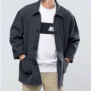 ASOS washed black worker chore jacket